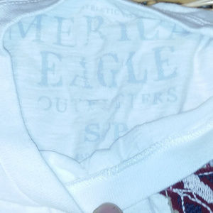 American Eagle Outfitters Shirts - American Eagle Men's S/P White Shirt Eagle Patch